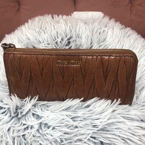 MIUMIU Matalasse Zip Around Wallet